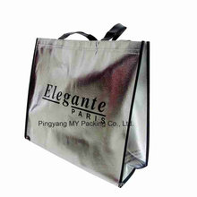 Custom Print Silver Laminated Non Woven Tote Bag