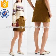 Mistura de algodão Mini saia de fabricação por atacado de moda feminina vestuário (TA3001S)