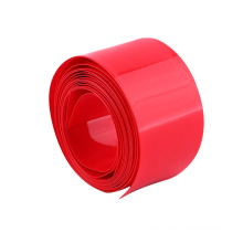 Flat Size 78mm Red Plastic PVC Heat Shrink Tubing