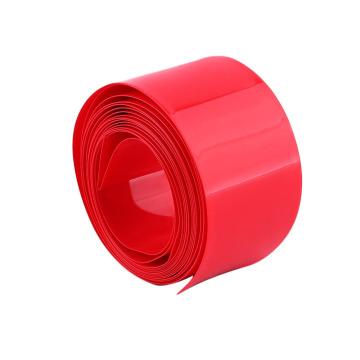 Tubería plástica roja del encogimiento del PVC del tamaño 78m m plano