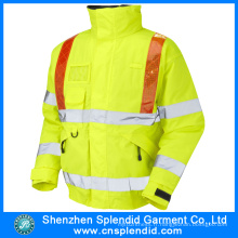 Custom Construction Work Wear Veste ignifuge Firefighters avec réflecteur