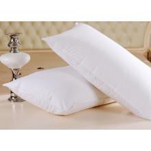 Atacado branco sólido algodão hotel travesseiro