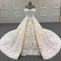 2018 nuevo vestido de novia princesa Lace vestido nupcial por encargo en China