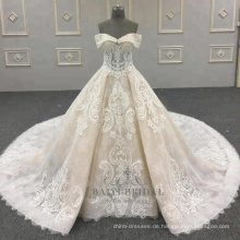 2018 neue Hochzeitskleid Prinzessin Lace Bridal Dress nach Maß in China