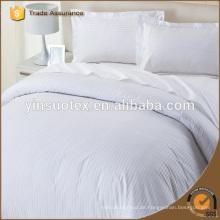 Hochwertige 100% Baumwolle Plain White Hotel Bettwäsche