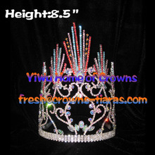 Wholesale Straight Colorful Lines Pageant Crowns