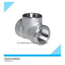 ASTM F304 Forjado Conexões em Aço Inoxidável NPT Threaded Tee