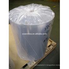 Rouleau transparent rigide de PVC, petit pain transparent de PVC de Mircon, petit pain rigide de PVC
