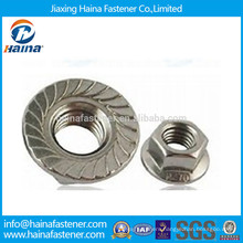 Stainless Steel 18-8 Serrated Hex Flange Nut Made In China