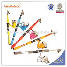 TSR054 chinese fishing tackle china fishing gear tele spin fibre glass fishing rod tele spin pole