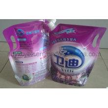 Waschmittel und waschen Produkt aufstehen Verpackungsbeutel