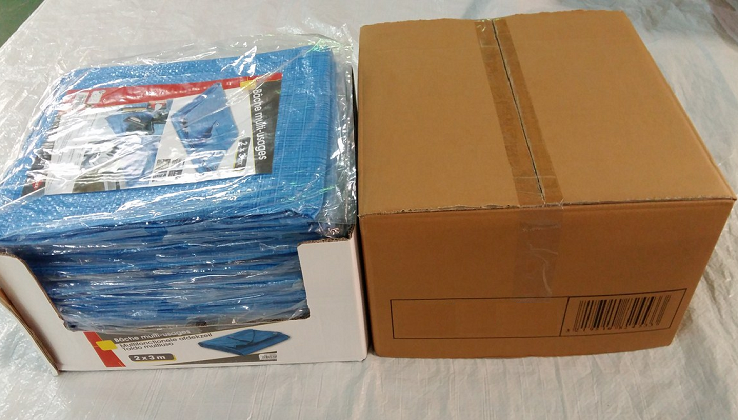 PE Tarps Display Packing