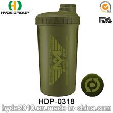 700ml personnalisé protéine Shaker bouteille, bouteille d'eau de Shaker plastifié (HDP-0318)