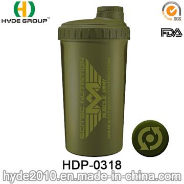 700ml angepasst Protein Shaker Flasche, Kunststoff-Pulver-Shaker-Wasserflasche (HDP-0318)