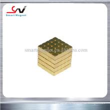 Низкая цена супер сильный различный размер неодимовый золотой магнит