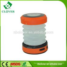 Lanterna de campismo recarregável recarregável impermeável 1W LED escalável