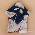 Nouvelle arrivée premium pivoine big flral impression femmes twill écharpe en viscose de coton écharpes
