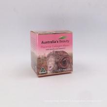 Boîtes d'emballage de cosmétiques crème de soin de la peau pour soins personnels lanoline placenta crème boîte d'emballage à vendre