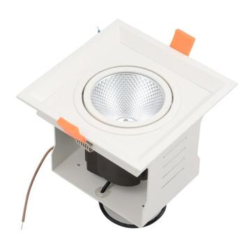 COB Praça LED Grille Luz Recessed LED Grade Downlight Teto