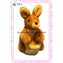 Brown Lovely Plush Rabbit Puppet (XDT-0133)