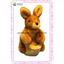 Marrom bonitinho boneco de pelúcia coelho (xdt-0133)