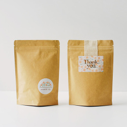 Factory Price Kraft Paper Tea Bag with Zipper