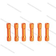 Vente chaude anodisé aluminium standoff entretoise colorée de haute qualité