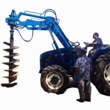 Pelle à tracteur / perceuse à colonne / foreuse