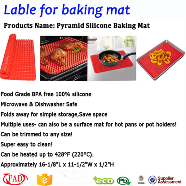 Eco-friendly Silicone Non Stick Baking Mat