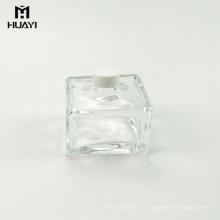envase de perfume cuadrado cuadrado de alta calidad botella de vidrio difusor de lámina vacía