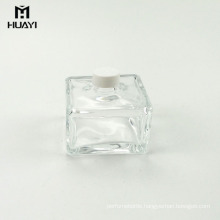 high quality square aroma perfume container empty reed diffuser glass bottle
