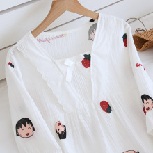 women Pullover cotton pajamas top and pants suit