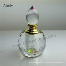 Bouteille de parfum en cristal pour huile de parfum Prix d'usine