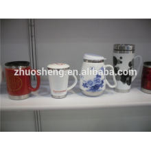 Китай Топ 10 продаж продукции керамическая кружка с базой из нержавеющей стали, пользовательские печатных термос кружка