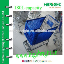 large volume plastic shopping trolleys shopping carts for sale
