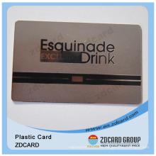 Oro / plata / negro / tarjetas de metal cepillado para personalizar