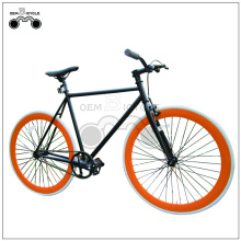 700c 50mm rims hi-ten steel material fixed gear bikes