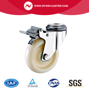 Brake PP Bolt Hole Stainless Steel Caster