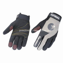 Cycling Full Finger Sports Glove Silicone Print Mountain Bike Motorcycle