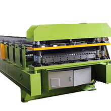 Aluminum roll forming machine for the production of corrugated metal