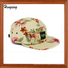 Beautiful Floral 5panel Patch Caps