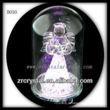 K9 Kristall Engel mit Deckglas außen