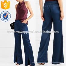 Широкие брюки атласные брюки Производство Оптовая продажа женской одежды (TA3025P)