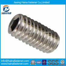 DIN916 Parafuso de fixação de cabeça hexagonal em aço inoxidável com ponto plano