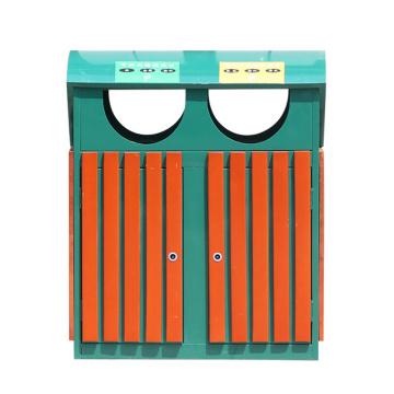 Compartimentos de madeira de aço e madeira ao ar livre (B6500)