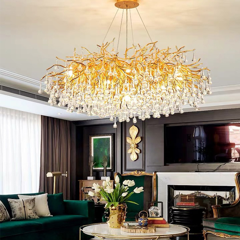 Beaded Crystal Metal ChandelierofApplicantion Chandelier Lamp Shades