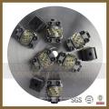 Martillo de 300 mm con rodillo giratorio de diamante Litchi