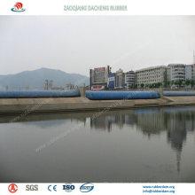 Presa de goma inflable ampliamente utilizada para el proyecto de conservación del agua