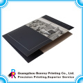 Hot sale logo custom printing handmade paper file folder with two pockets