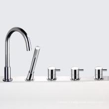 Mélangeur de baignoire à cascade 4 trous et robinets de bain 4 trous
